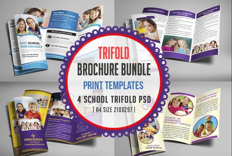 A4 School Brochure Print Templates