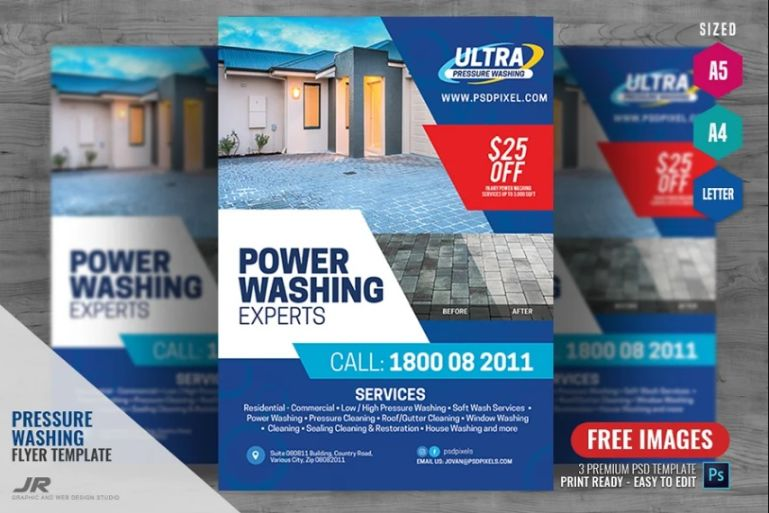 A4 and A5 Cleaning Flyer Designs