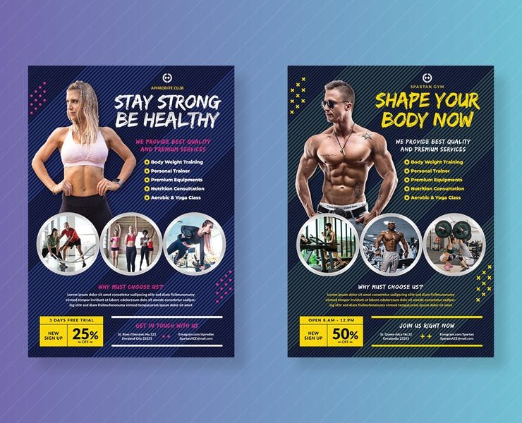 23+ Free Gym Flyer Template Promotional Download