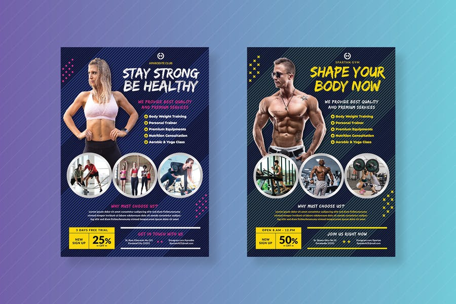 A4 and A5 Gym Promotional Flyer