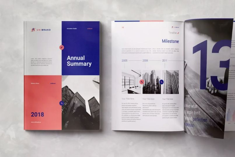 A4 and US Letter Annual Report Template