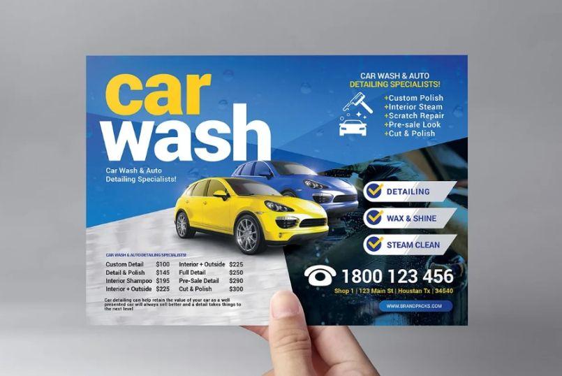 A5 Car Wash Flyer Templates