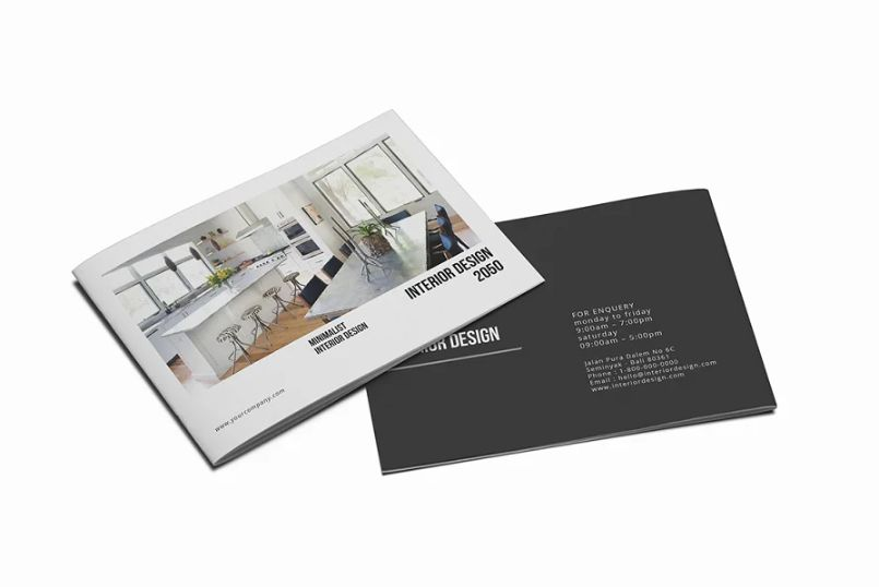 A5 Interior Design Brochure Templates