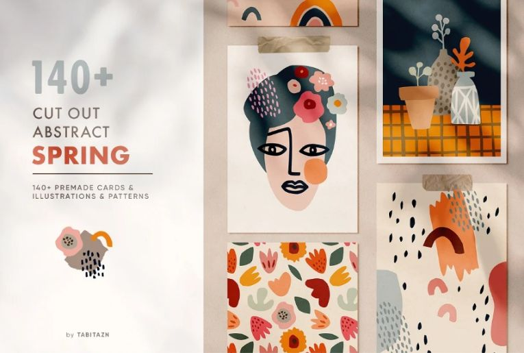 Abstract Spring Promotional Set