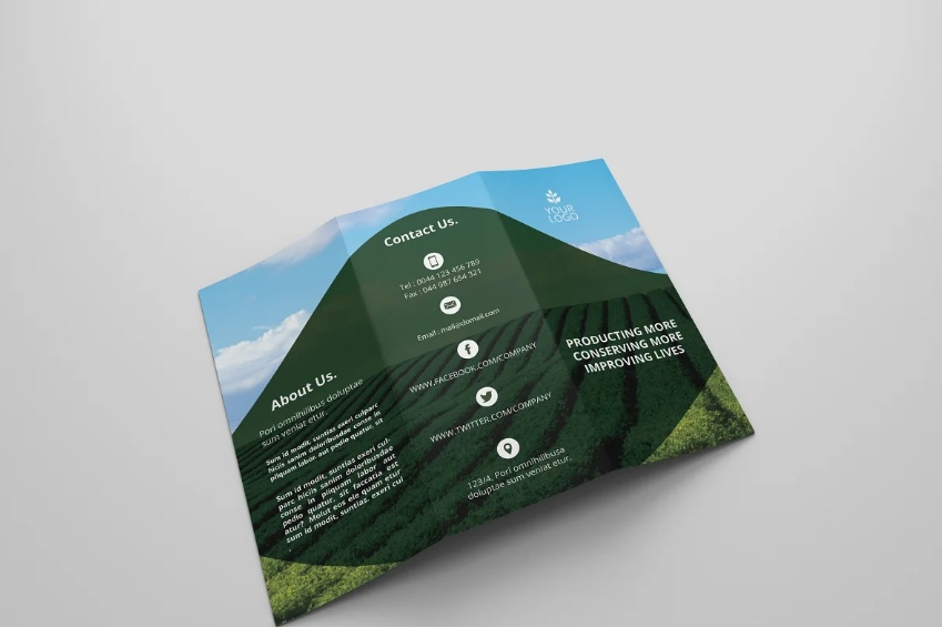 Agricultural Brochure Template Design
