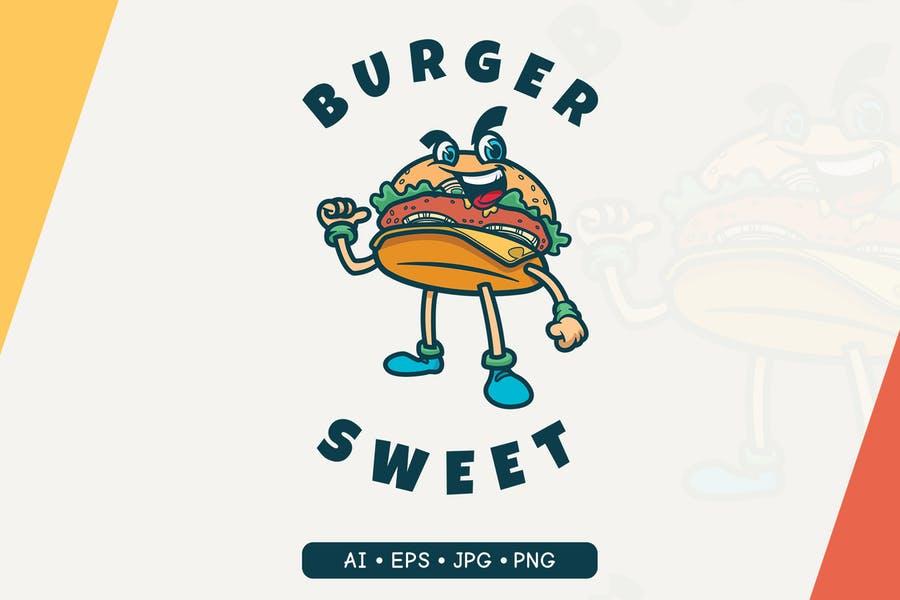 Ai and EPS Burger Logo