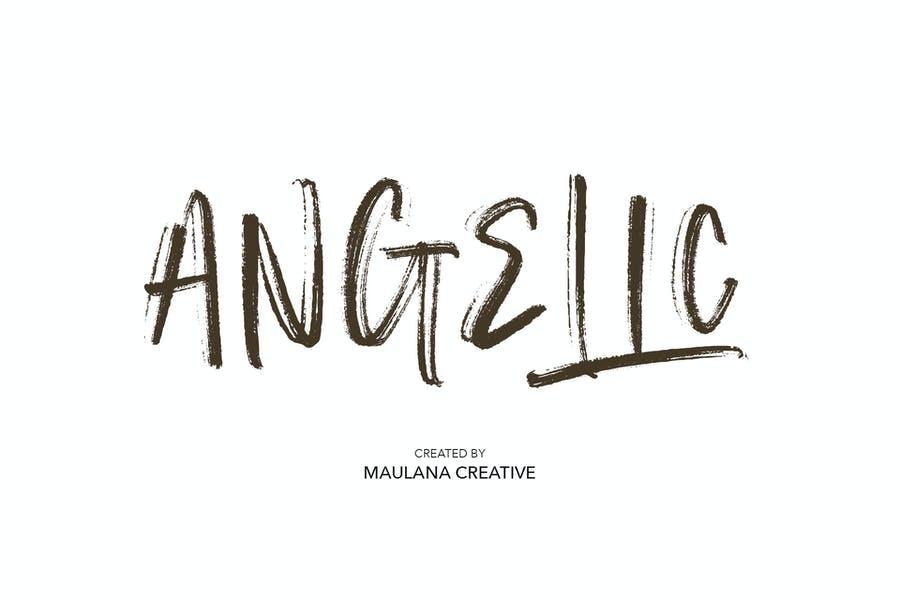 Angelic Brush style Fonts