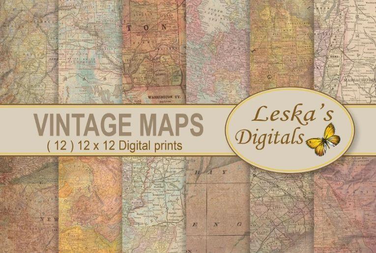 Antique World map Textures