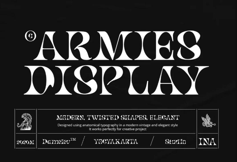 Armies San Serif Fonts