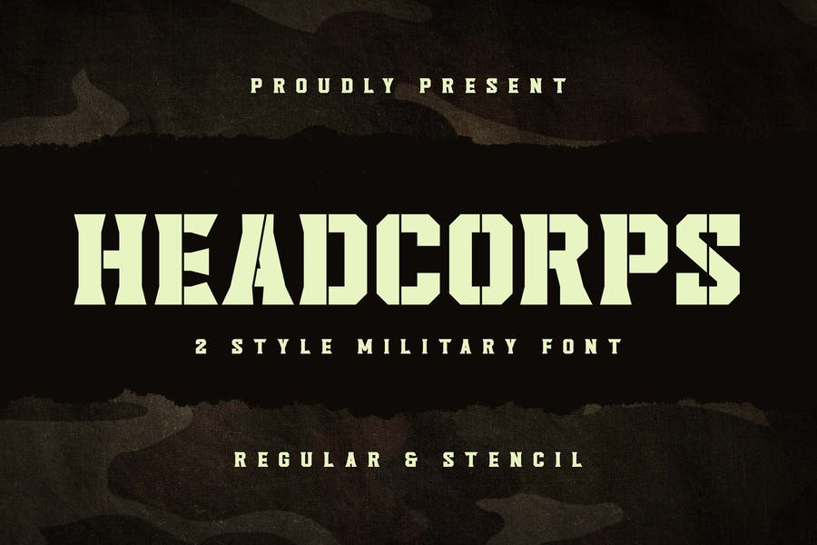 Army Style Branding Font