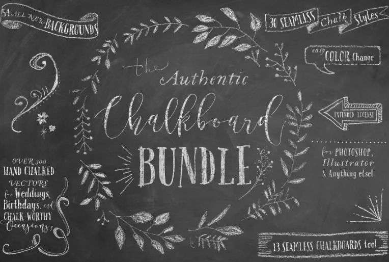 Authentic Chalkboard Textures Bundle