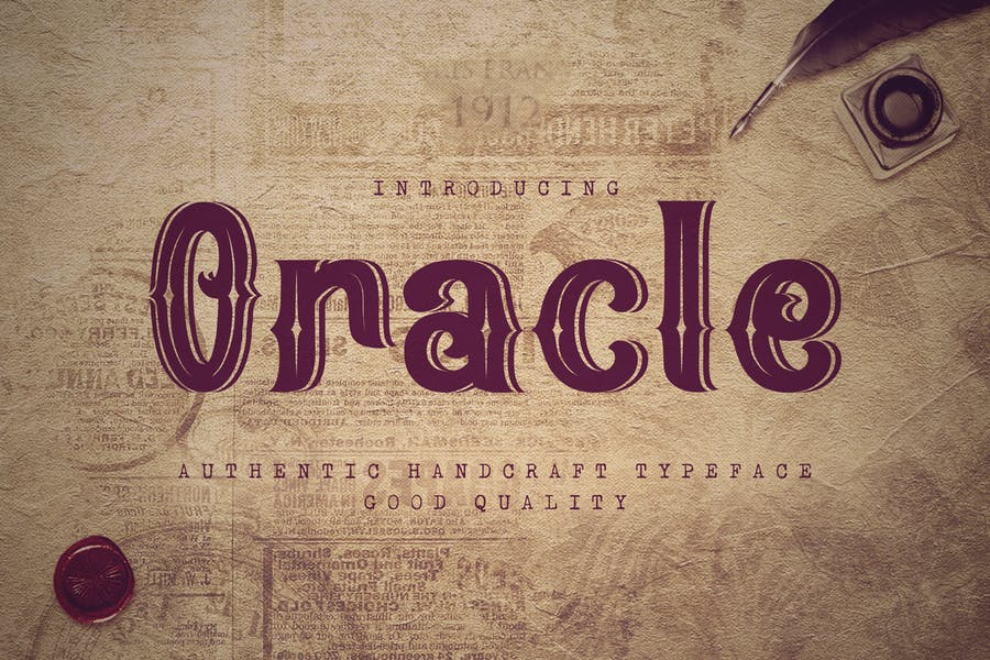 Authentic Online Lined Font