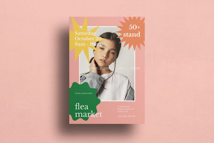 Beautiful Flea Market Promotional Flyer