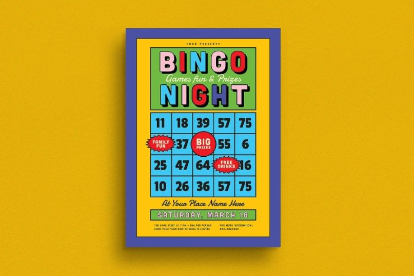 Bingo Night Flyer Template