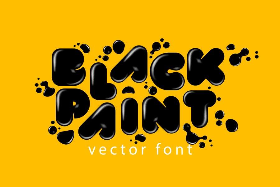 Black Paint Vector Fonts