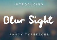 Blur Fonts