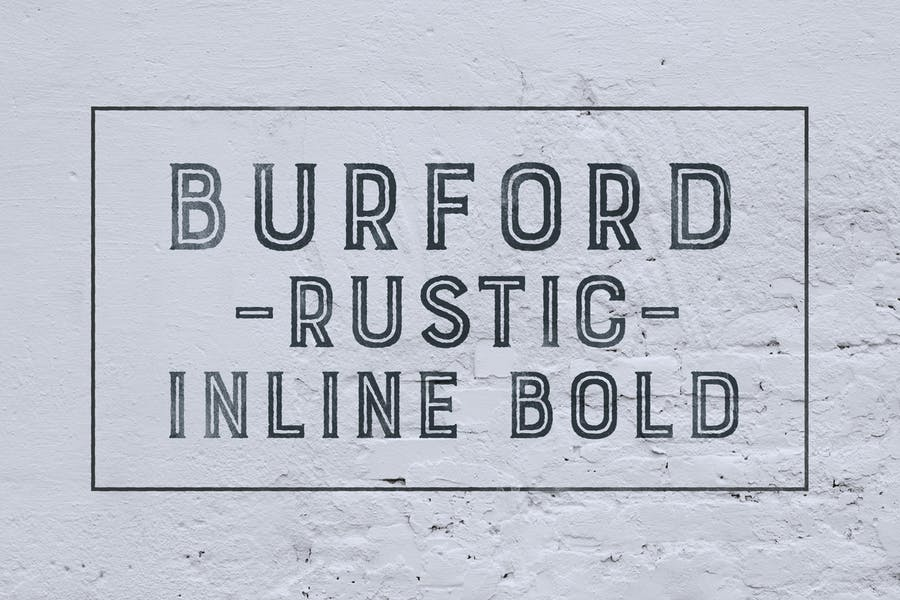 Bold Inline Typeface