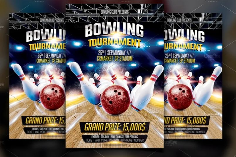 Bowling Alley Flyer Templates