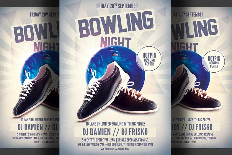 Bowling Club Advert Flyer