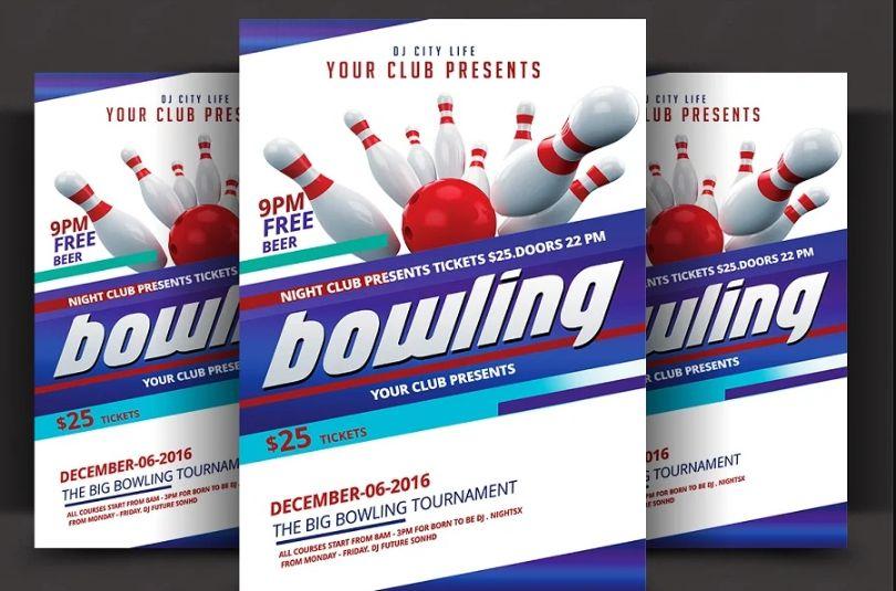 Bowling Club Tournament Flyers
