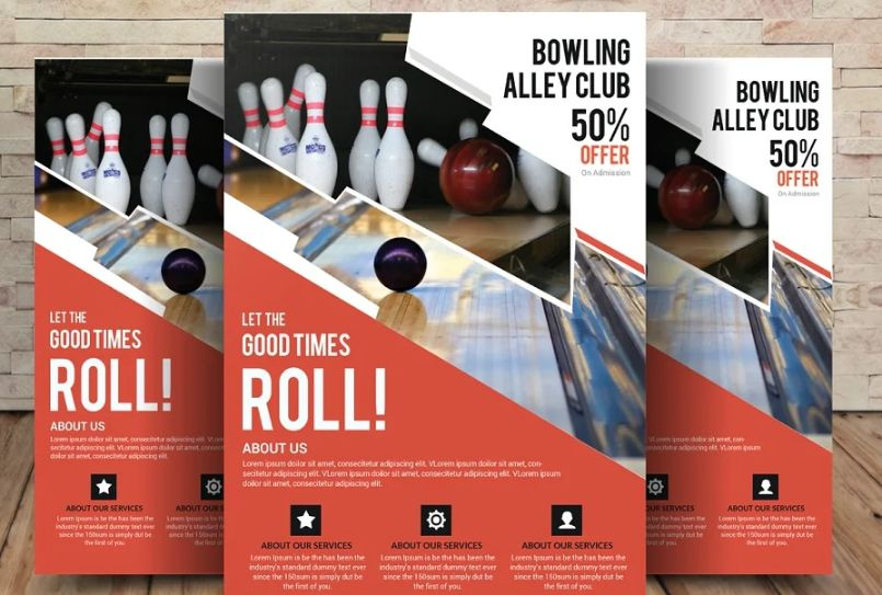 Bowling Competition Flyers
