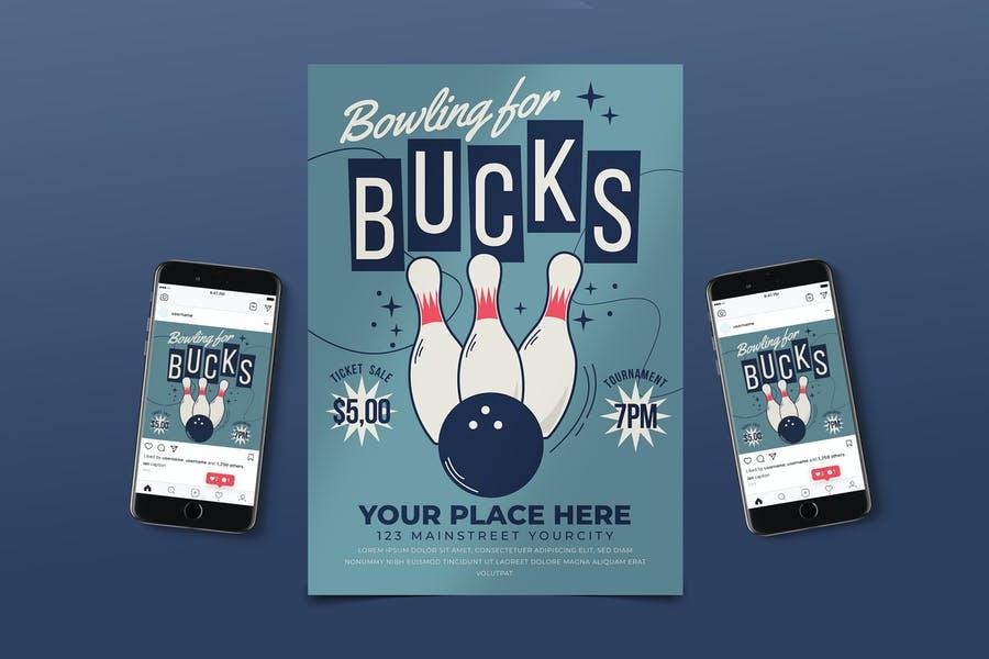 Bowling Event Advertisement Flyer