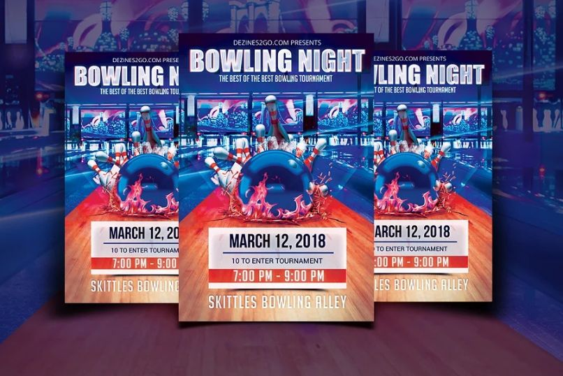 Bowling Night Promotional Flyer