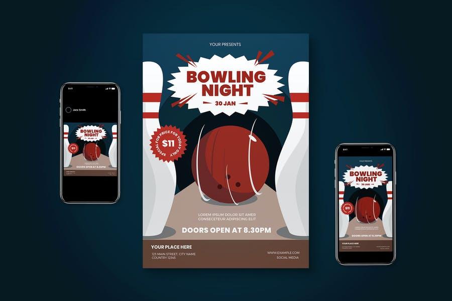 Bowling Night Set