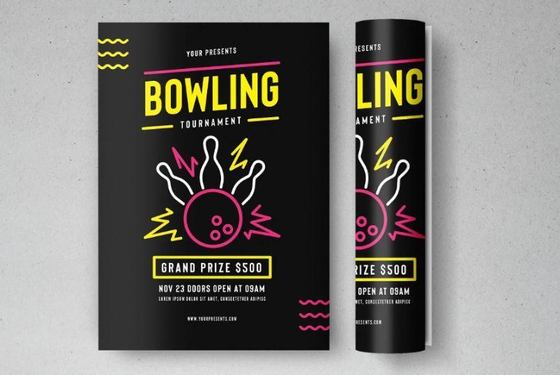 Bowling Tournament Flyer Template