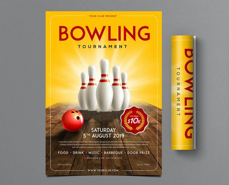 22+ Free Bowling Flyer Template PSD Download