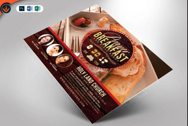 Breakfast Aution Flyer Design