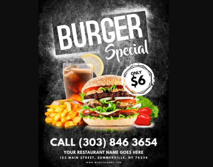 Burger Special Flyer Template