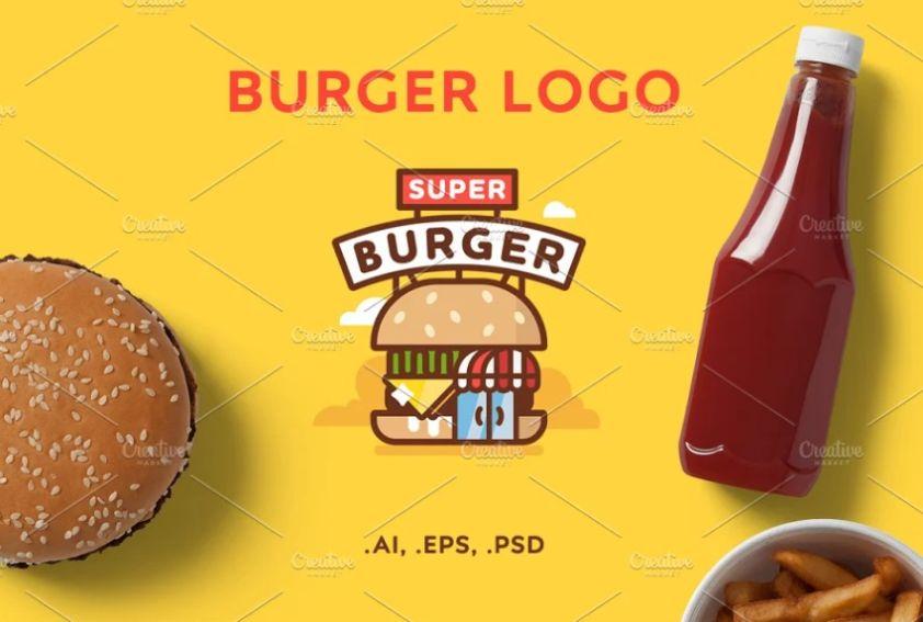 Burger Store Logo Design Ideas