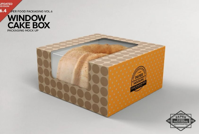 Cake Window Box Mockup