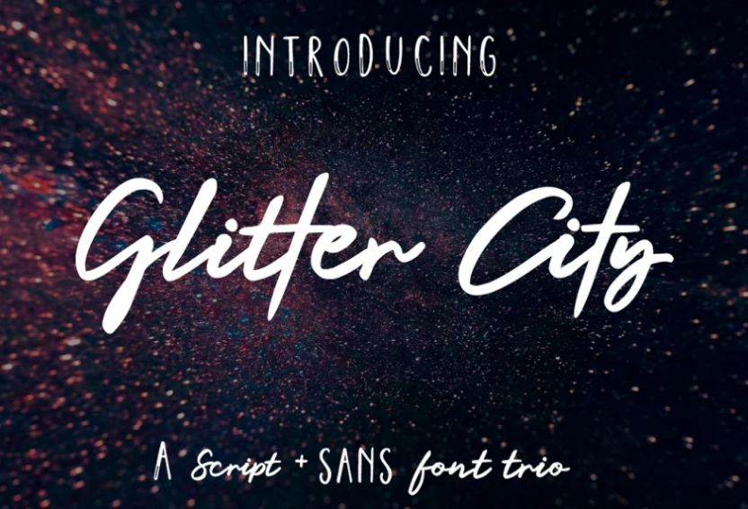 Calligraphy Glitter Typefaces