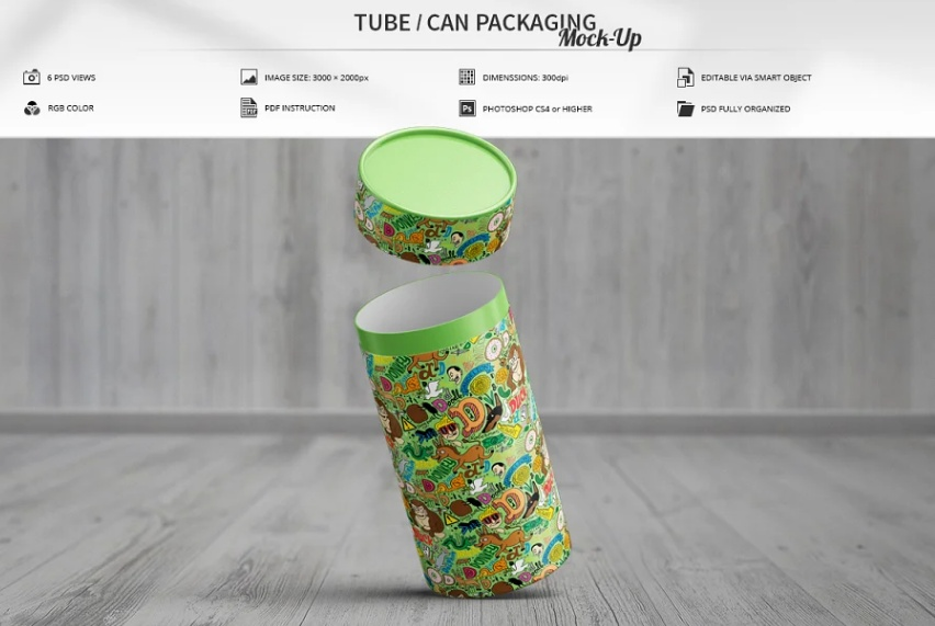 Can Packaging Mockup PSD