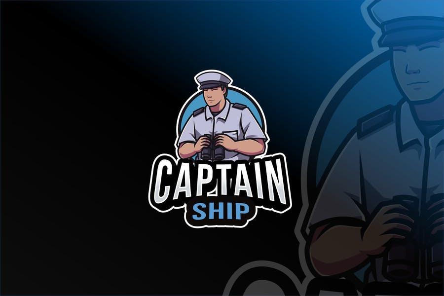 Captain Mascot Logo Template