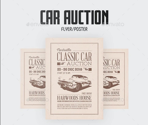 Car Auction Poster Design