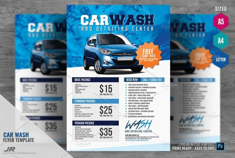 Car Care Services Flyers