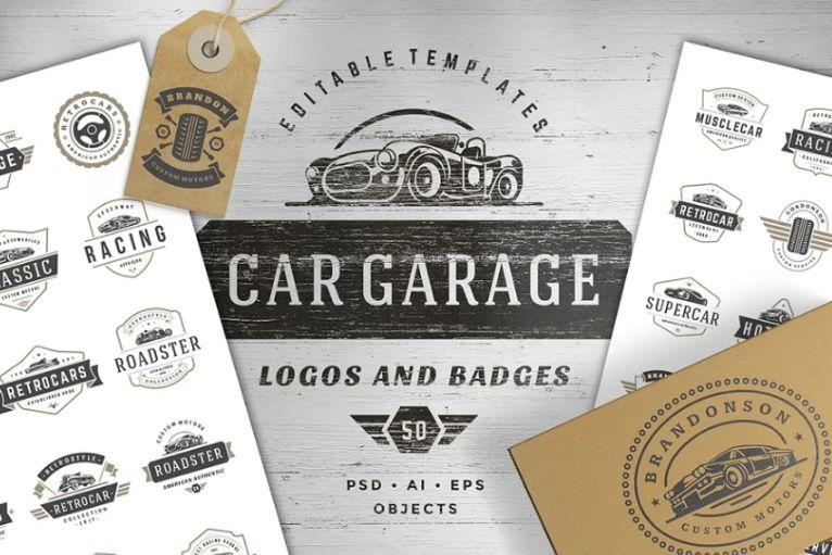 Car Garage Logo Designs