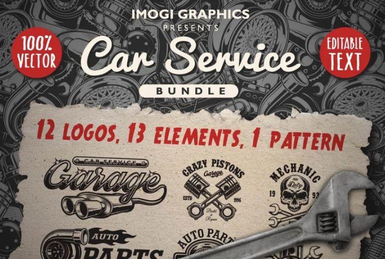 Car Service Logo Design Bundles
