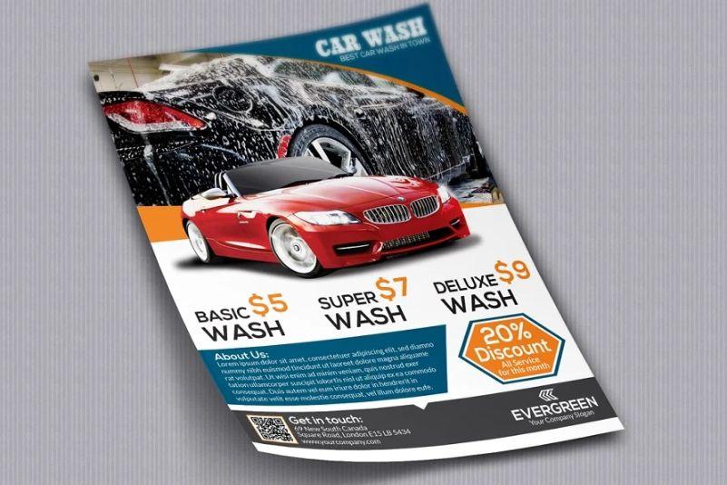 Car Wash Advert Flyer