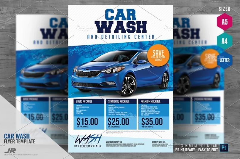 Car Wash Advertising Flyer Templates
