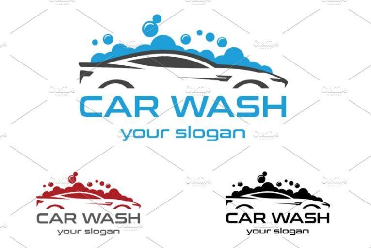 Car Wash Branding Logo