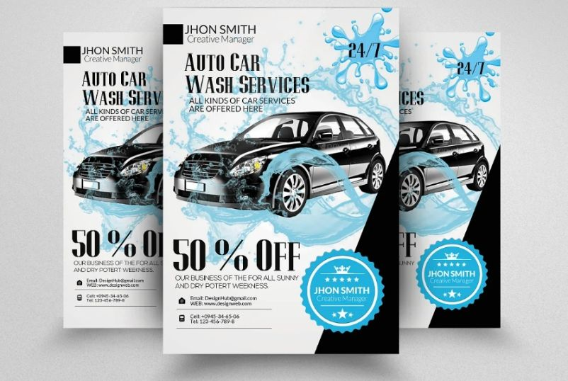 Car Wash Business Flyers