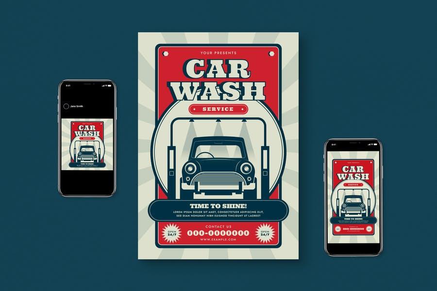 Car Wash Promotion Set