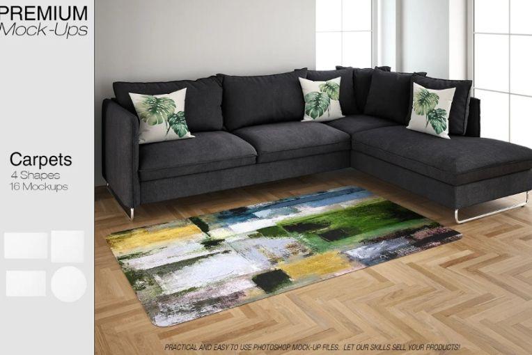 Carpets in the Room Mockup
