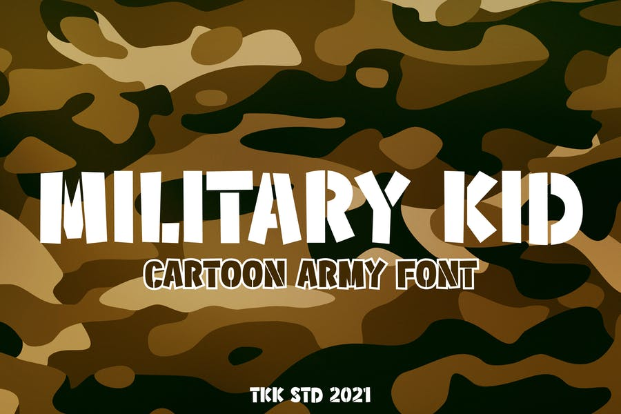 Cartoon Style Army Fonts