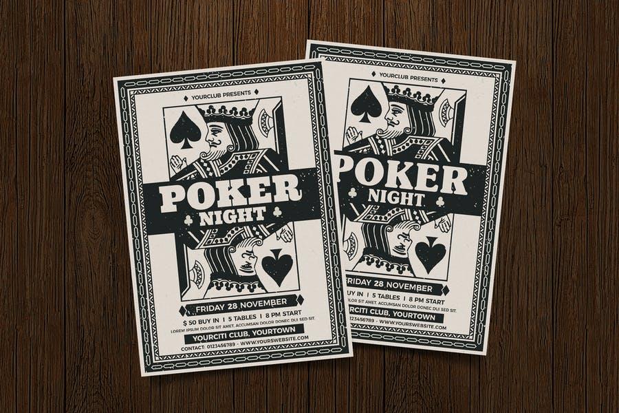 Casino Wheel Flyer Template