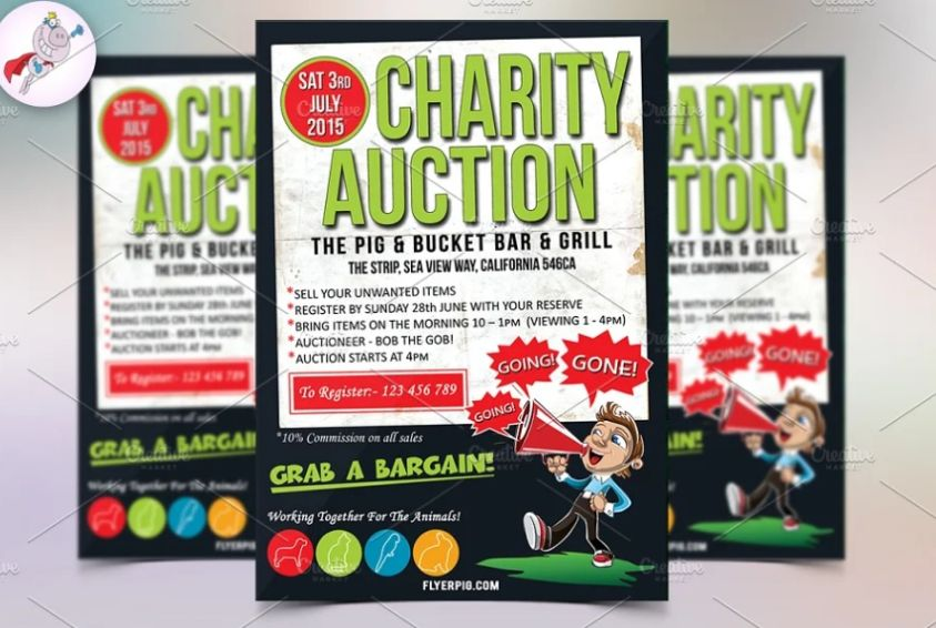 Charity Auction Flyer Design